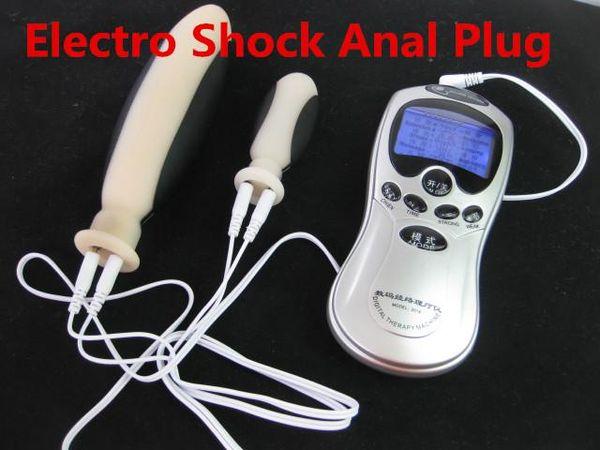 Electric Shock Anal Plug Stimulation Electro Butt Vaginal Plugs Sex Toys Mastubation BDSM Bondage Gear Kit