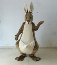 Wholesale Kangaroo Adult Costume - EN71 Deluxe EVA Head Adult kangaroo Mascot Costume roo mascot costume Same as Pictured for sale