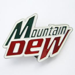Wholesale pewter belt - Pewter Vintage Mountain Dew Belt Buckle