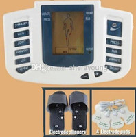 bdsm dişli şoku toptan satış-Kölelik Dişli Elektrik Çarpması Elektrot Terlik Pedleri Elektronik Masaj Vücut Terapi Makine Sağlık Alet BDSM Elektro Şok Seks Oyuncakları