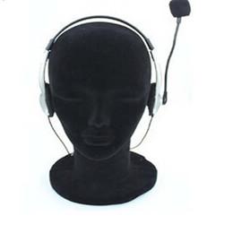 Display Heads Male Canada - 11'' Styrofoam Foam Mannequin Head Male Black Model Display Tool Wigs Hat Holder