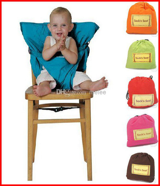 best selling Fedex EMS DHL 2016 New Portable Baby Kids High Chair Belt Seat Infant Safety Comfortable Easy To Carry Baby Eat chair Seat belt 9Color Melee