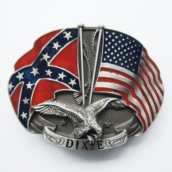 Мужчины пряжки ремня новый урожай Овальный Западно-Американский флаг Орел пряжки ремня Gurtelschnalle букле де ceinture пряжки-WT080 также акции в США