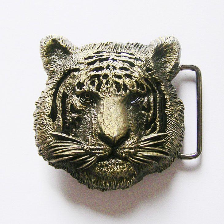 d8507f4af New Vintage Bronze Plated King of Animal Tiger Wildlife Western Cosplay  Costume Belt Buckle Gurtelschnalle Boucle