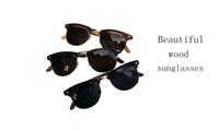 Wholesale Cheap Cb - fashion 3 colors high quality cheap handmade wood sunglasses cb sunglasses