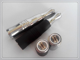 Metal Wax Coil Ego T Canada - 510 ego t attachment wax vaporizer dual ceramic rod wax smoking dual coil waxing device for ego evod ego c vision vv spinner ego vv3 ego vv4