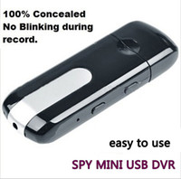 Wholesale Mini U Disk Dvr - Mini Hidden HD Portable Spy Camera Recorder U Disk Spy Camera DVR Motion Detect Camera Cam Hidden Camera + 8GB TF Card