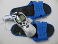 Wholesale Electro Shock Female - Female Electric Electro Shock Foot Cares Supply Therapy Massager Slipper Sets BDSM Bondage Gear Adult Sex Games Toys Health Gadgets