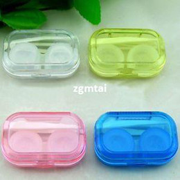Wholesale -Hotsale Travel Outdoor Portable Storage Contact Lens Case Holder Box Container#E592