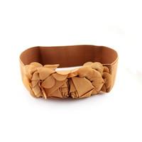 Wholesale Women Gray Belt Flower - Fahion Candy Rose Belt Fashion Women's Flower Belts Silk Belts for Women