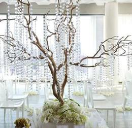 Wholesale Wedding Crystal Trees - 99feet 10mm Crystal Garlands Acrylic Gems Bead Strands Wedding Centerpieces Manzanita Tree Hung Strands Strung wa081