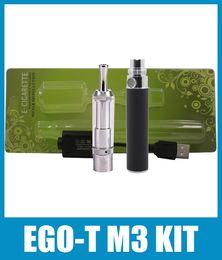 2018 vaporizador cloutank m3 kit Ego-T Cloutank M3 Vaporizador Atomizador Blister Kit 650 / 900mah Batería Ego no ajustable Prey Glass Cloutank M3 Atomzier Starter Kit KZ010 vaporizador cloutank m3 kit baratos