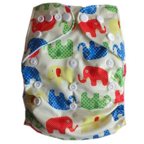 top popular 2016 New Arrival 5pcs Pack Pocket Washable Reusable Cloth Diaper nappies with Micofiber or Bamboo Inserts (Girl Boy Color) 2021