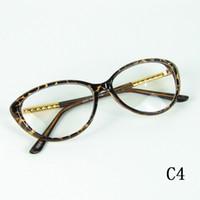 vidros de fundição venda por atacado-Óculos Moldura Óptica Do Vintage Quadro Cateye Óculos Moldura De Metal Coréia Graça Eyewear Boa Qualidade 4 Cores 12 pcs