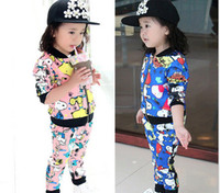 Wholesale Snoopy Suit - New Arrival Autumn Children Clothing Girl Suit Snoopy Cartoon Jacket Top + Pants 2pcs Kids Tracksuit Baby Sets Child Set GX897