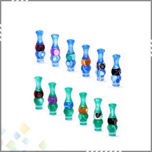 Super Style Color Mix Boquilla de acrílico Trompeta Punta de goteo 510 Para 510 hilo Clearomizer Electronic Cigarette