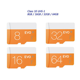 Wholesale R4 Dsl Card - 2017 New Hot!! Class 10 EVO 128GB 64GB 32GB 16GB 8GB Micr SD Card MicroSD TF Memory Card C10 Flash SDHC SD Adapter Retail Package