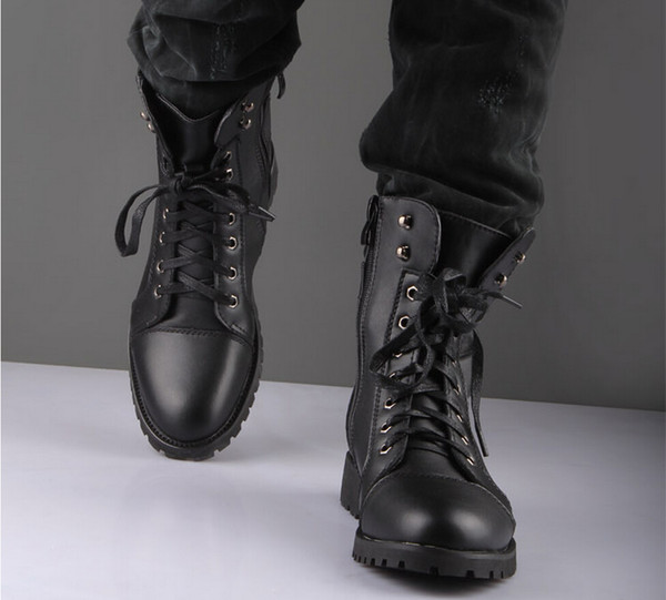 Mens Black Fashion Boots
