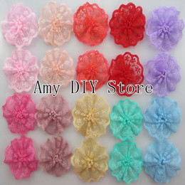Wholesale Garment Accessories Lace - Free shipping!New arrival Baby Boutique single Lace flower for clothing garment Accessories,flowers for kids headband 360pcs lot HH063
