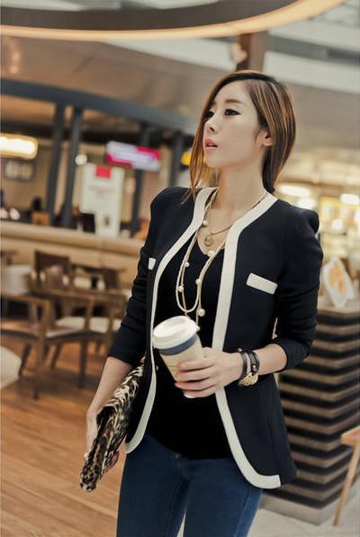 2018 Novo Terno Casacos de Moda Mulheres Terno Casaco Jaqueta Vestidos Casuais OL Roupas de Trabalho Casuais Coreano Das Senhoras Brancas de Terno Preto Blazers S-XL W6