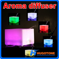 Wholesale Wholesale Ultrasonic Aroma Diffuser Ionizer - Ultrasonic 700ML Colorful LED Rainbow Aroma Diffuser With Anion Perfume Diffuser Humidifier 4 Timer Settings Air Freshener for Office Home