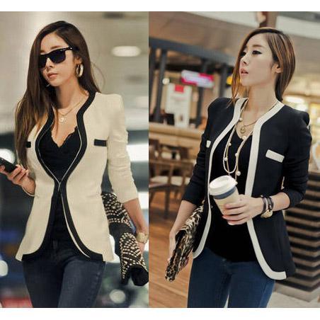 Compre 2018 Nuevo Traje De Abrigo Moda Mujer Traje Abrigo Chaqueta Vestidos  Casual OL Ropa De Trabajo Casual Corea Ladies White Suit Blazers S XL W6 A  ... 2dbcfa7d9660