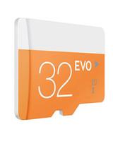 Wholesale Orange Class - Class 10 EVO 64GB 32GB 16GB 8GB Micr SD Card MicroSD TF Memory Card C10 Flash SD Adapter SDXC White Orange Retail Package