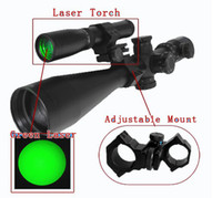 Wholesale Nd Green Laser - Night vision Hunting Laser Flashlight Designator Green Dot Sight Scope with Adjustable Mount ND-30 free shipping