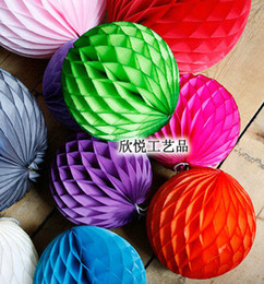 Wholesale Honeycomb Tissue - Free Shipping 8+15+20cm Mixed Sizes Lot of 30pcs Tissue Paper Honeycomb Balls Decorations Honeycomb Paper Decorations Christmas