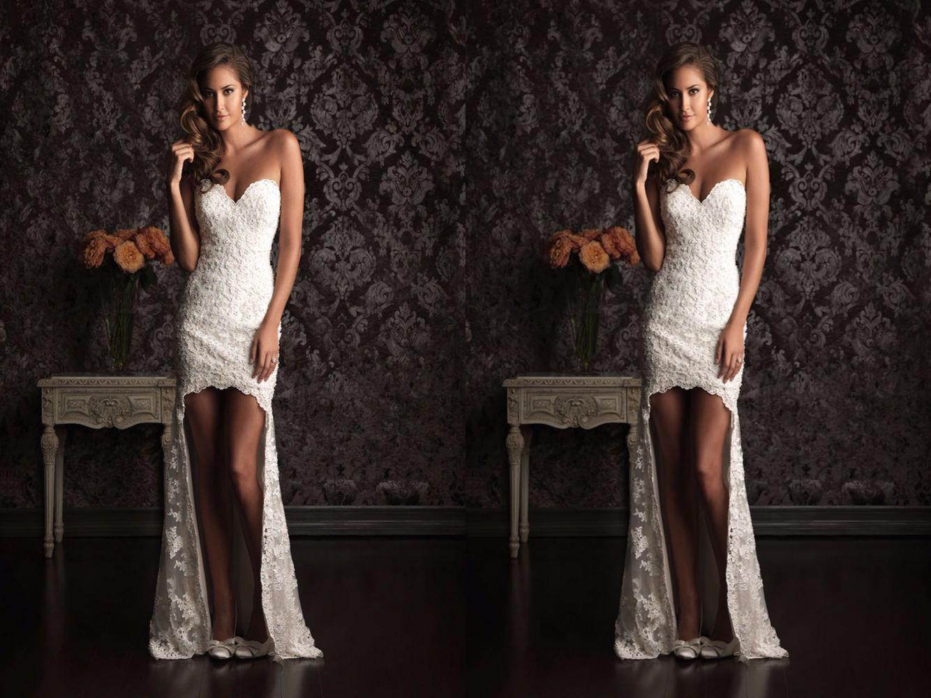 2015 New Style High Low Mermaid Wedding Dresses Formal
