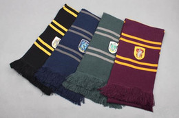 Wholesale Harry Potter Scarf Ravenclaw - Harry Potter Gryffindor Slytherin ravenclaw Hufflepuff Wool Knit Thicken Neck Scarf Wrap Soft