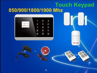 Wholesale Gsm Pstn Alarm Systems - Free Shipping! Wireless Wired Touch Screen Keypad panel LCD display GSM SMS PSTN Home Security Burglar Voice Smart Alarm System