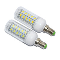 Wholesale E14 11w - 5pcs SMD 5730 E14 11W LED Corn bulb lamp 36LEDs Energy Efficient AC 220V home light & lighting LED Chandelier pendant lights