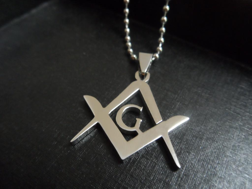 Argent / Or Acier inoxydable 1.2 « » emblème maçonnique Charme collier pendentif hommes