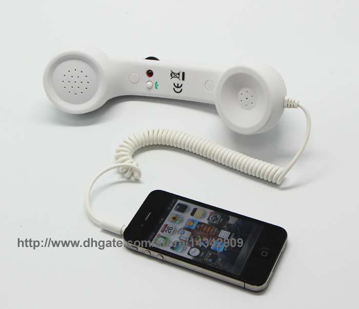 Coco Retro Phone Anti-radiation classic Handset For IPhone or 3.5mm Cell Mobile Phones with glidewheel Volume Control