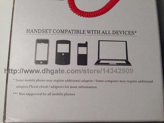 / coco retro telefon anti-strålning klassisk handenhet för iPhone eller 3,5 mm mobil mobiltelefoner med glidhjul volymkontroll