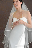 Wholesale Satin Ribbon Band - 2015 cheap short veil Hot Seller 1 LAYER White Ivory wedding Veils Short Bridal Wedding Accessories Veil bridal wedding veil With Satin band