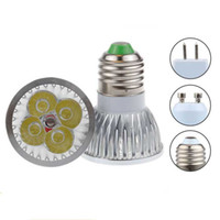 Wholesale Led Dimmable Cheap - Cheap High power CREE 12W 4x3W Dimmable GU10 MR16 E27 E14 GU5.3 B22 Led Light Lamp Spotlight led bulb Energy Saving