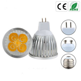 Wholesale Dimmable 4x3w - Dimmable GU10 E27 E14 MR16 12W 110V 220V 4X3W LED Light Warm White Bulb Lamp