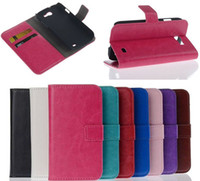 Wholesale Galaxy Express Flip Case - Retro Crazy Horse PU Flip Wallet Leather Case Cover with Card Slots Money Pouch Bag Stand Holder For Samsung Galaxy Express 1 2 I8730 G3815