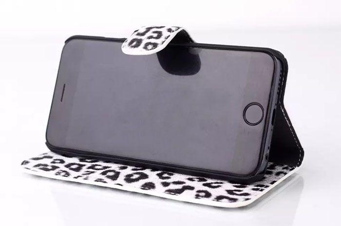 Leopard-Korn-PU-Leder-Mappen-Beutel für iphone6 4,7 Zoll iphone6 Plus Fall Leopard Ledertaschen für iPhone 6 6G Super-Abdeckungen