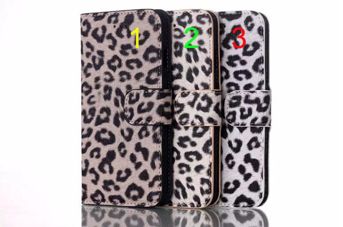 Leopard Grain PU Leather Wallet Pouch for iphone6 4.7 inch iphone6 plus Case leopard leather cases for iPhone 6 6G Super covers