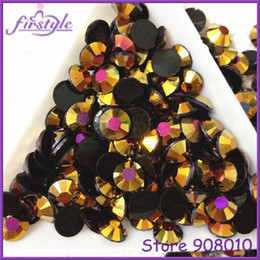 Wholesale Nail Art 5mm - J4 Jelly Gold Rose AB Color Resin Flatback Stone 14 Facets 2MM 3MM 4MM 5MM 6MM Nail Art Rhinestone Decoration