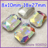 Wholesale Rectangle Octagon Crystal Fancy Stone - 4627 Rectangle Octagon Fancy Stone 8x10mm,10x14mm,13x18mm,18x25mm,18x27mm Crystal AB Color For Jewelry Making,Garment Use