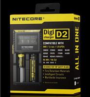 paquet de batterie li ion achat en gros de-NITECORE D2 Nouveau I2 LCD Digicharger Chargeur Intelligent Universel Pour Batterie Li-ion Ni-MH avec Emballage au détail