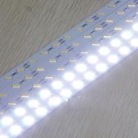 Wholesale 72 Led Light Bar - Hard LED Strip 7020 SMD Cool Warm White Rigid Bar 72 LEDs LED Light non-waterproof DC 12V high bright led strip