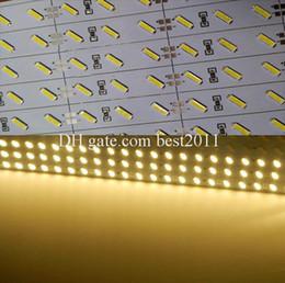 Wholesale Jewelry Cabinet Lighting - Super Bright Hard Rigid Bar light DC12V 100cm 72led SMD 7020 Aluminum Alloy Led Strip light For Cabinet Jewelry Display
