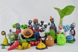 Wholesale Zombies Figures - Plants VS Zombies PVZ Collection Figures 24pcs set 3*8=24 plant and zombies figure OPP retail package