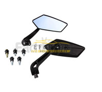 Wholesale mirrored side - Pair of Motorcycle Motorbike Side Rear View Mirror for Yamaha Honda Free Shipping