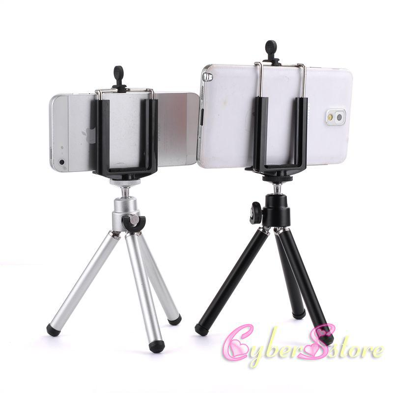 Universal Mini 360 Full Metal Rotating Extendable Mini Tripod + Stand Holder For Camera iPhone 8 X Samsung S8 Mobile Cell Phone